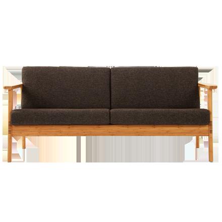 竹集成材のシンプルなソファ